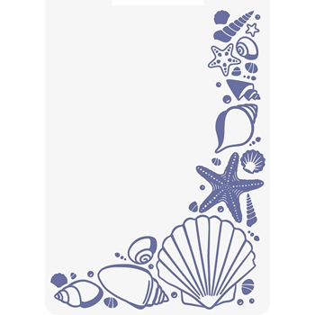 Crafter's Companion SEASHELL CORNER Embossing Folder Nautical s-naut-ef5-seco