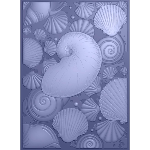 Crafter's Companion SEASHELL MEDLEY 3D Embossing Folder Nautical s-naut-ef5-3d-semed Preview Image