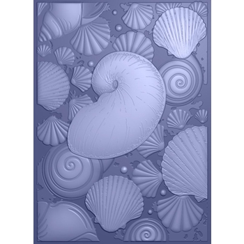 Crafter's Companion SEASHELL MEDLEY 3D Embossing Folder Nautical s-naut-ef5-3d-semed