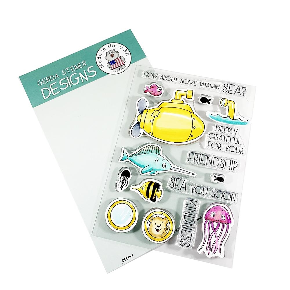 Gerda Steiner Designs DEEPLY Clear Stamp Set gsd694 zoom image