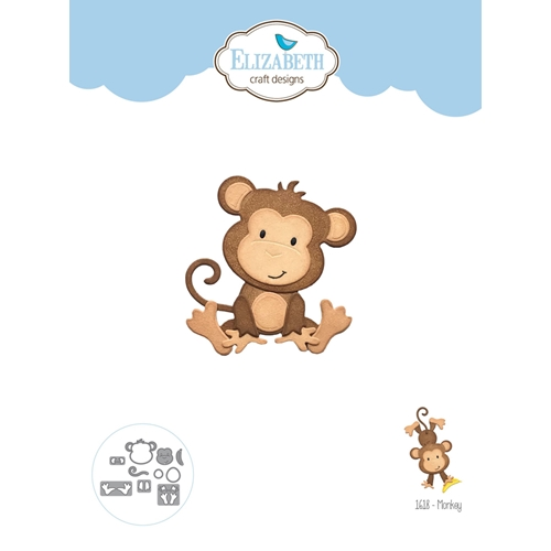 Elizabeth Craft Designs MONKEY Craft Dies 1618 Preview Image