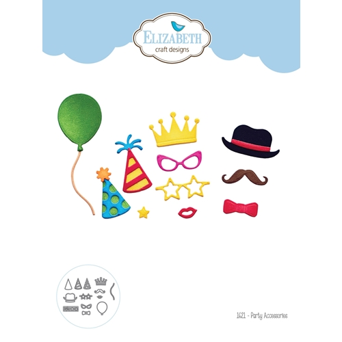 Elizabeth Craft Designs PARTY ACCESSORIES Craft Dies 1621 Preview Image