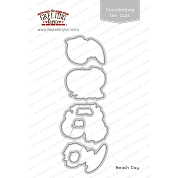 The Greeting Farm BEACH DAY Coordinating Die Cuts TGF495
