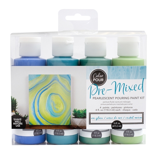 American Crafts Color Pour SEA GLASS Paint Kit 353829 Preview Image