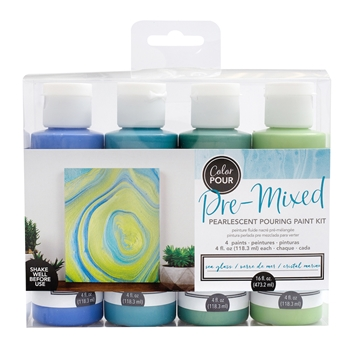 American Crafts Color Pour SEA GLASS Paint Kit 353829