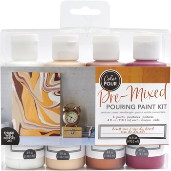 American Crafts Color Pour DESERT ROSE Paint Kit 353836