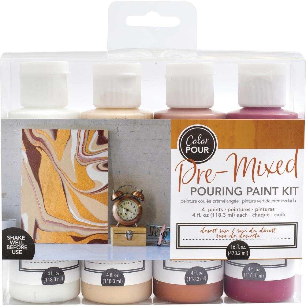 American Crafts Color Pour DESERT ROSE Paint Kit 353836 zoom image