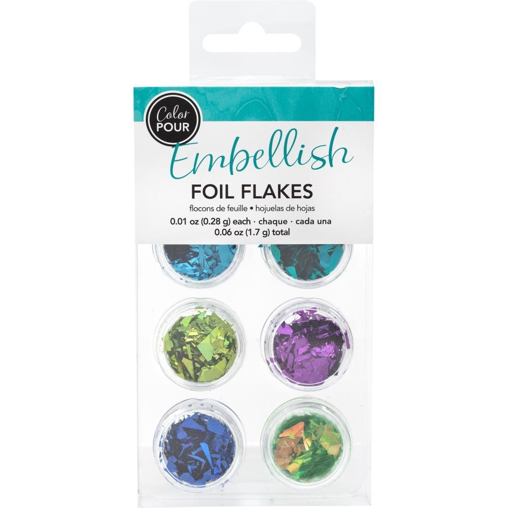 American Crafts Color Pour COOL Foil Flakes 353813 zoom image