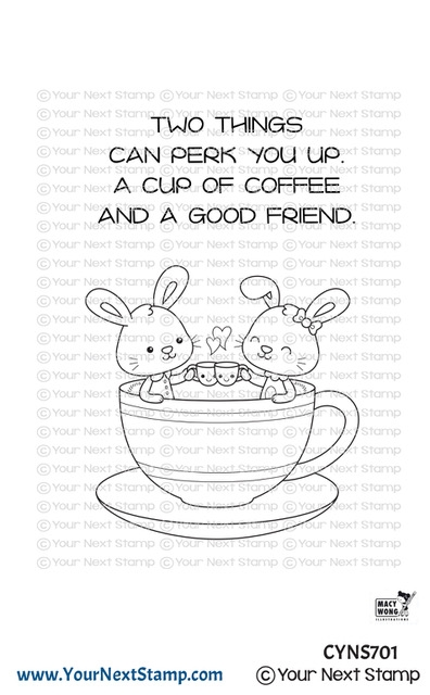 Your Next Stamp COFFEE CUTIES Clear cyns701 zoom image