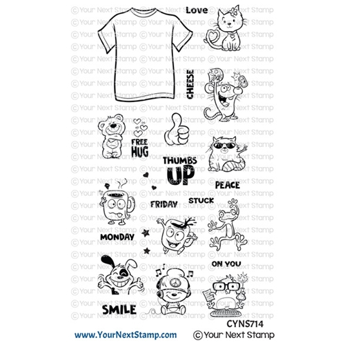Your Next Stamp COOL TEES Clear cyns714 Preview Image