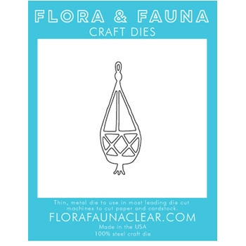 Flora and Fauna HANGING MACRAME Die 30106