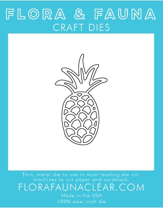 Flora and Fauna SUMMER PINEAPPLE Die 30107 Preview Image