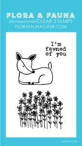 Flora and Fauna MINI FAWNED OF YOU Clear Stamps 20259