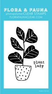 Flora and Fauna MINI PLANT LADY Clear Stamps 20255