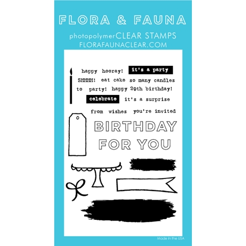 Flora and Fauna BRUSH BIRTHDAY Clear Stamps 20251 Preview Image