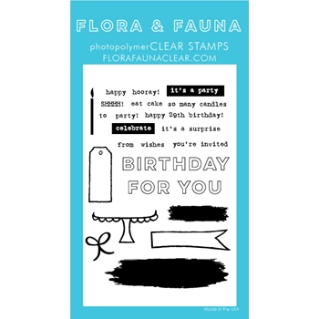 Flora and Fauna BRUSH BIRTHDAY Clear Stamps 20251