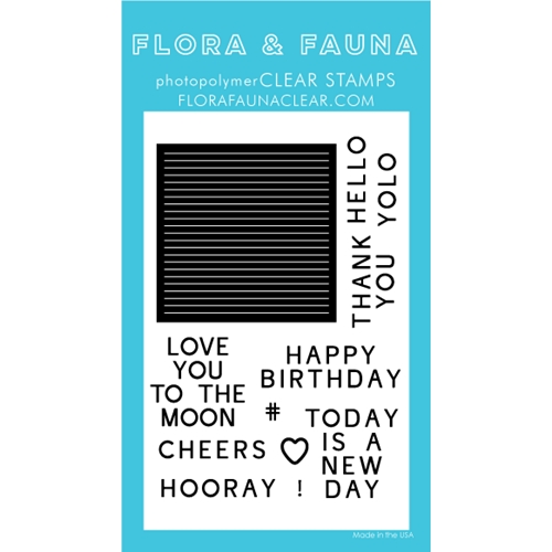 Flora and Fauna LETTERBOARD Clear Stamps 20254 Preview Image