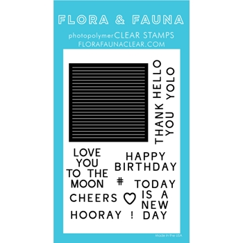 Flora and Fauna LETTERBOARD Clear Stamps 20254