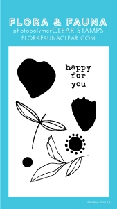 Flora and Fauna MINI BRUSH PETAL Clear Stamps 20256