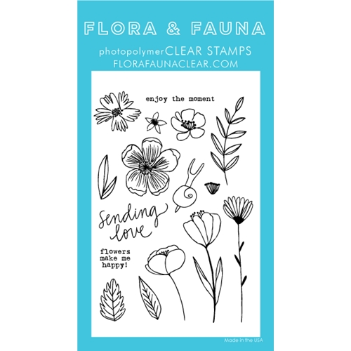 Flora and Fauna SUMMER SNAIL Clear Stamps 20250 Preview Image