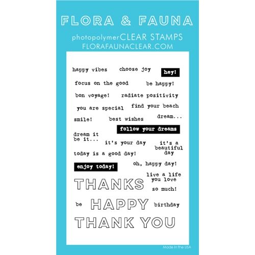Flora and Fauna EVERYDAY WORD PARTY PART 2 Clear Stamps 20252 Preview Image