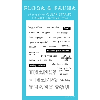 Flora and Fauna EVERYDAY WORD PARTY PART 2 Clear Stamps 20252