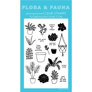 Flora and Fauna PLANT LADY Clear Stamps 20253