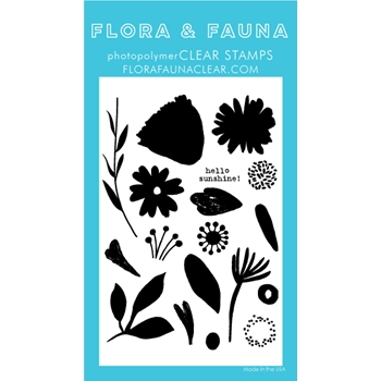 Flora and Fauna BRUSH PETAL 2 Clear Stamps 20247