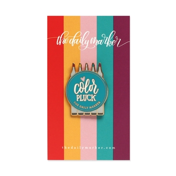 COLOR PLUCK Enamel Pin The Daily Marker jmpin3