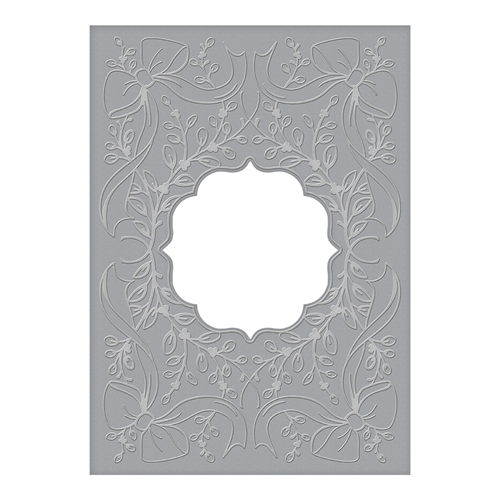 CEF-012 Spellbinders LAUREL AND BOWS Cut and Emboss Folder Preview Image