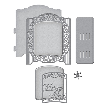 S6-157 Spellbinders GRAND HOLIDAY CABINET Etched Dies