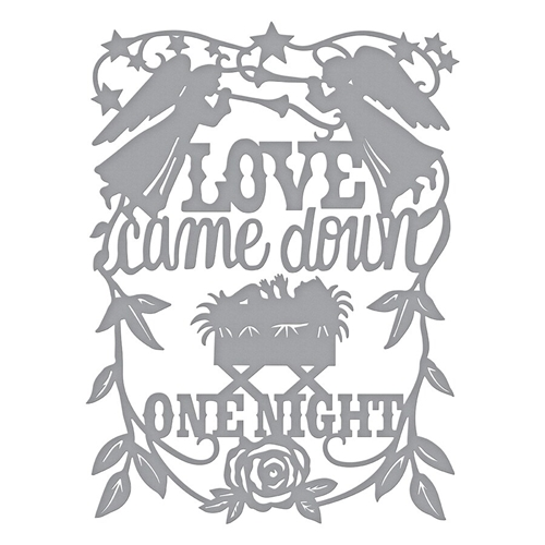 S5-398 Spellbinders LOVE CAME DOWN Etched Dies  Preview Image