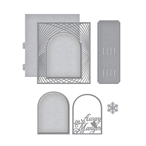 S6-159 Spellbinders GRAND CHRISTMAS LATTICE ARCH Etched Dies  Preview Image