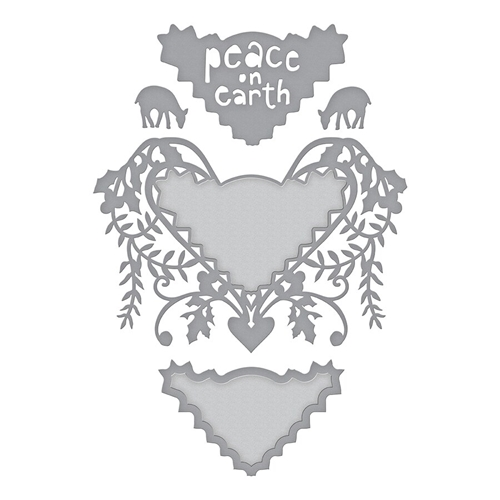 S4-1009 Spellbinders PEACE ON EARTH Etched Dies  Preview Image