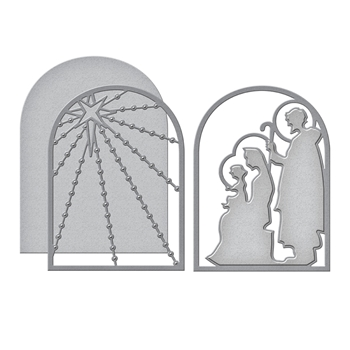 S4-1006 Spellbinders NATIVITY LAYERING Etched Dies