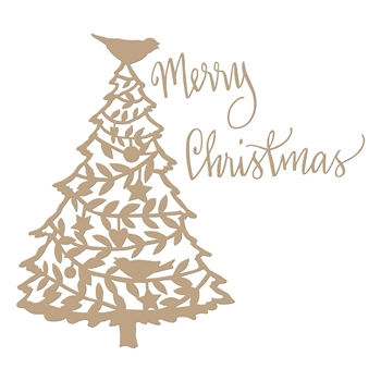 GLP-113 Spellbinders MERRY CHRISTMAS TREE Glimmer Hot Foil Plates