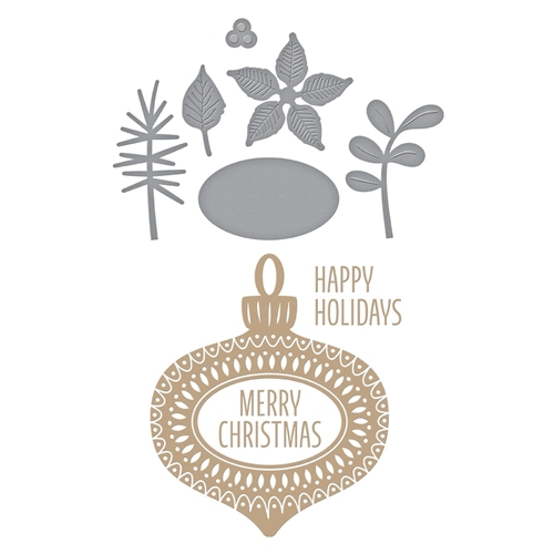 GLP-100 Spellbinders ORNAMENT  Glimmer Hot Foil Plates Preview Image