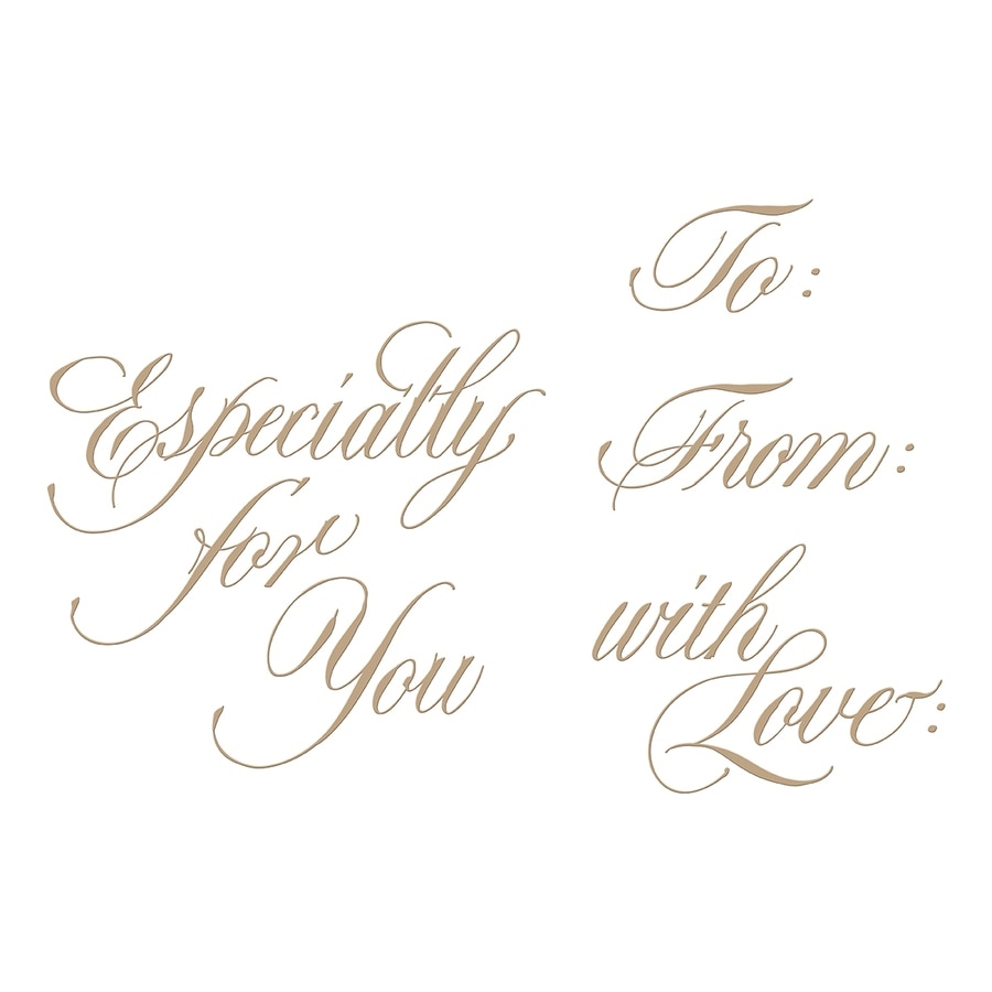 GLP-089 Spellbinders COPPERPLATE SCRIPT GIFT TAG SENTIMENTS  Glimmer Hot Foil Plates zoom image