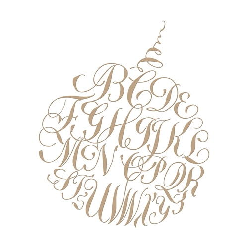 GLP-088 Spellbinders CALLIGRAPHY ALPHABET ORNAMENT Glimmer Hot Foil Plates Preview Image