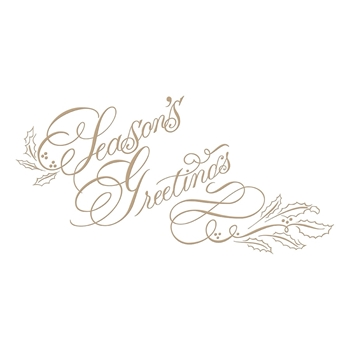 GLP-078 Spellbinders COPPERPLATE SCRIPT SEASON'S GREETINGS Glimmer Hot Foil Plate
