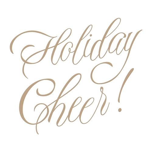 GLP-065 Spellbinders FAUX SCRIPT HOLIDAY CHEER Glimmer Hot Foil Plates Preview Image