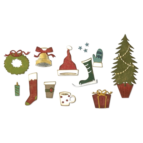 Tim Holtz Festive Things Die Set