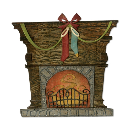 Tim Holtz Sizzix FIRESIDE Thinlits Dies 664193 Preview Image