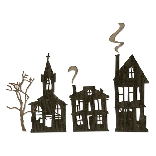 Tim Holtz Sizzix GHOST TOWN Thinlits Dies 664194  Preview Image