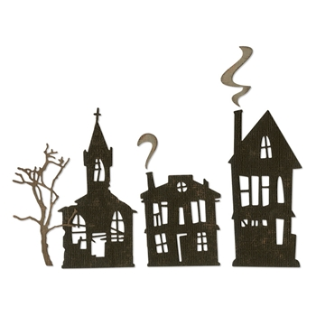 Tim Holtz Sizzix GHOST TOWN Thinlits Dies 664194