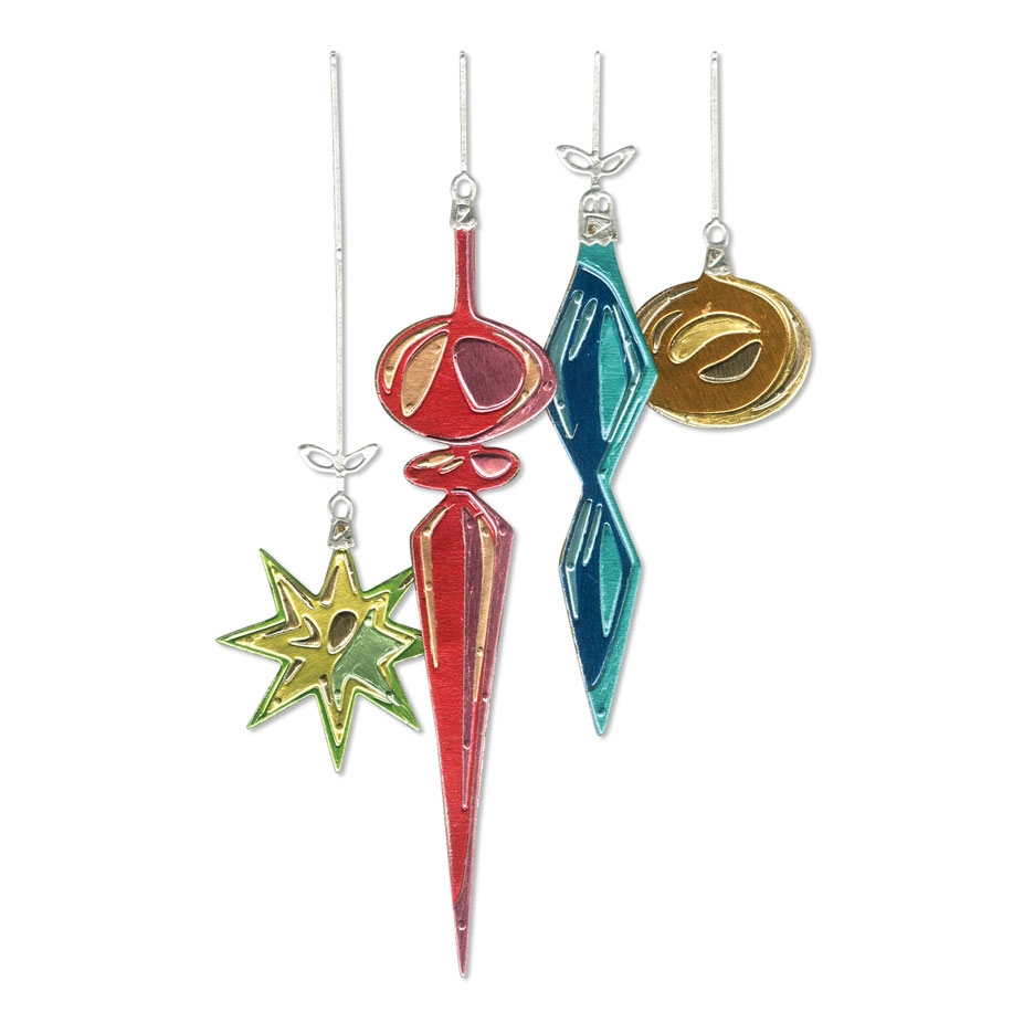 Tim Holtz Sizzix HANGING ORNAMENTS Thinlits Dies 664197 zoom image