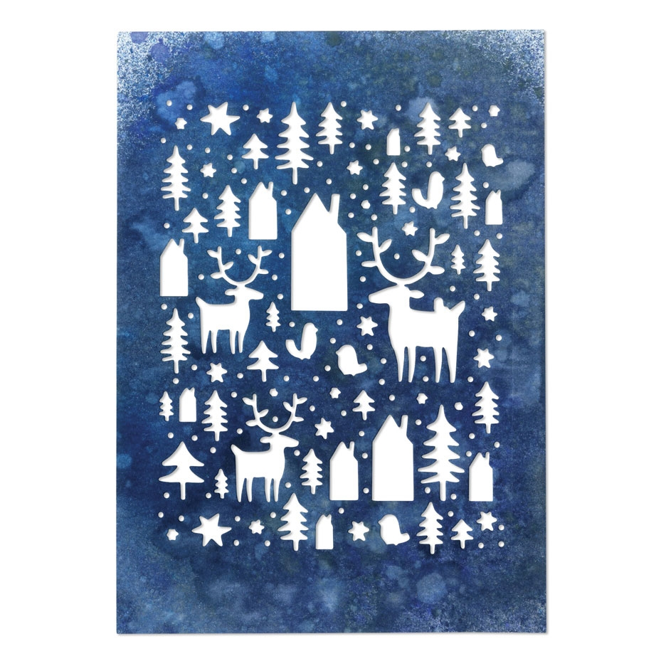 Tim Holtz Sizzix NORDIC WINTER Thinlits Die 664199 zoom image