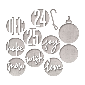 Tim Holtz Sizzix CIRCLE WORDS CHRISTMAS Thinlits Dies 664205