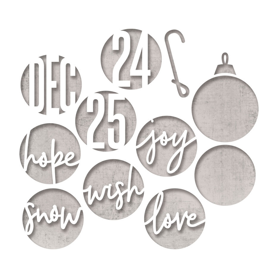 RESERVE Tim Holtz Sizzix CIRCLE WORDS CHRISTMAS Thinlits Dies 664205 zoom image