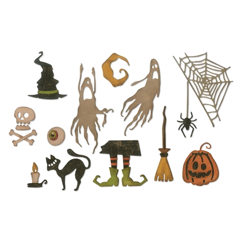 Tim Holtz Sizzix FRIGHTFUL THINGS Thinlits Dies 664209 Preview Image